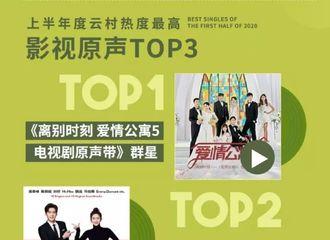 [新闻]200710 《我在北京等你》电视剧原声带登网易云音乐上半年热度最高影视原声top2