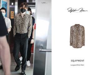 [新闻]200921 蔡徐坤今日机场时尚穿搭科普 豹纹衬衫野性十足尽显好身材