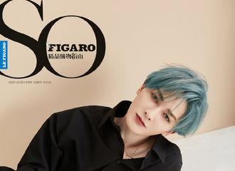 [新闻]201022 朱正廷《SoFigaro》封面正式公开 蓝发贝贝演绎漫画少年的精致美感