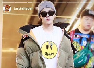 [分享]201127 大型考古现场:Justin Bieber IG story上传去年吴亦凡穿Drew House图片