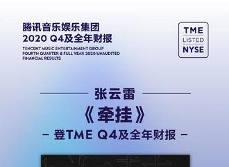 [新闻]210323 张云雷首登TME财报 《牵挂》摘得2020数字EP销量冠军!