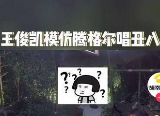 [新闻]210417 王俊凯模仿腾格尔老师遭本尊翻牌,大型尴尬现场就此诞生