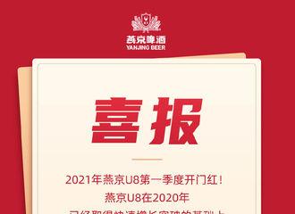 [分享]210418 燕京U8第一季度取得开门红 小福星王一博和代言品牌继续双赢