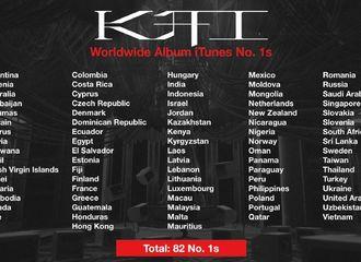 [分享]210419 KAI 《KAI》登上82个国家及地区iTunes专辑榜首,强大的全球影响力!
