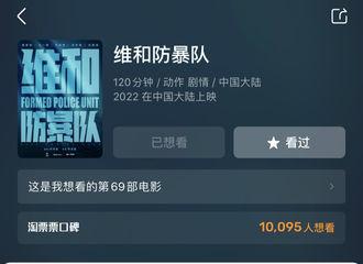 [新闻]210512 《维和防暴队》淘票票想看人数破万 2022年就应该来电影院约会杨震