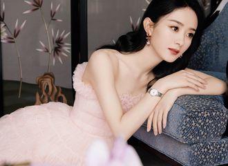 [新闻]210610 赵丽颖粉色抹胸纱裙造型闪现昆明 笔墨丹青都绘不出的人间绝色
