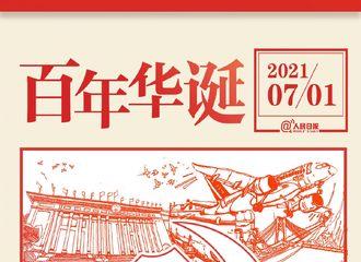 [新闻]210701 全国庆祝中国共产党成立100周年 杨紫转发微博一起祝福伟大的祖国!
