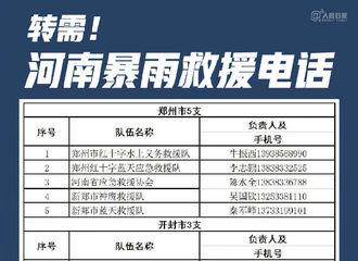 [新闻]210721 丁禹兮转发河南暴雨紧急救援电话 紧急扩散,希望帮助到有需要的人