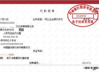 [新闻]210722 陈立农向郑州红十字会捐赠50万元 同舟共济,河南加油!