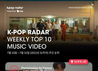 [新闻]210803 D.O.《Rose》进入K-pop Radar 2021年第31周排行榜TOP10