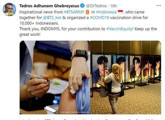 [新闻]210805 印尼BTS粉丝俱乐部成立新冠疫苗接种项目,免费帮助接种1万人