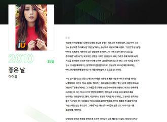 [新闻]210827 Melon kpop 100名曲公开1~20位,IU《好日子》排在第5位!