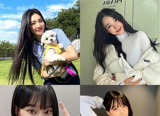 [新闻]211019 Red Velvet Joy·aespa Winter等,潇洒迷人的黑发女神